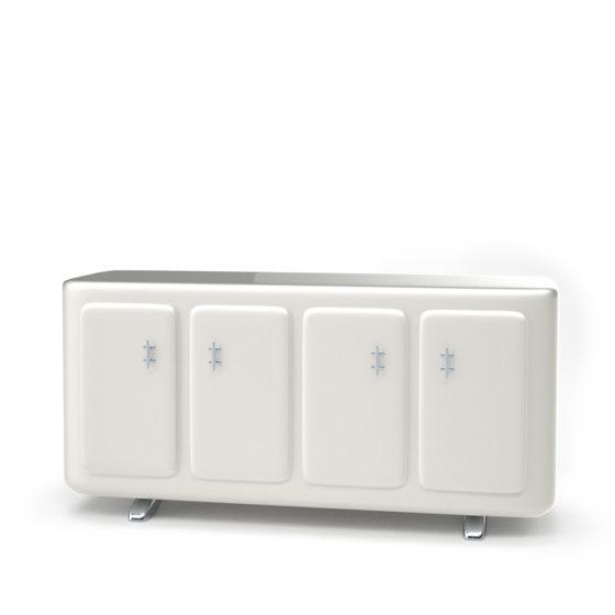 Omega cabinet white color