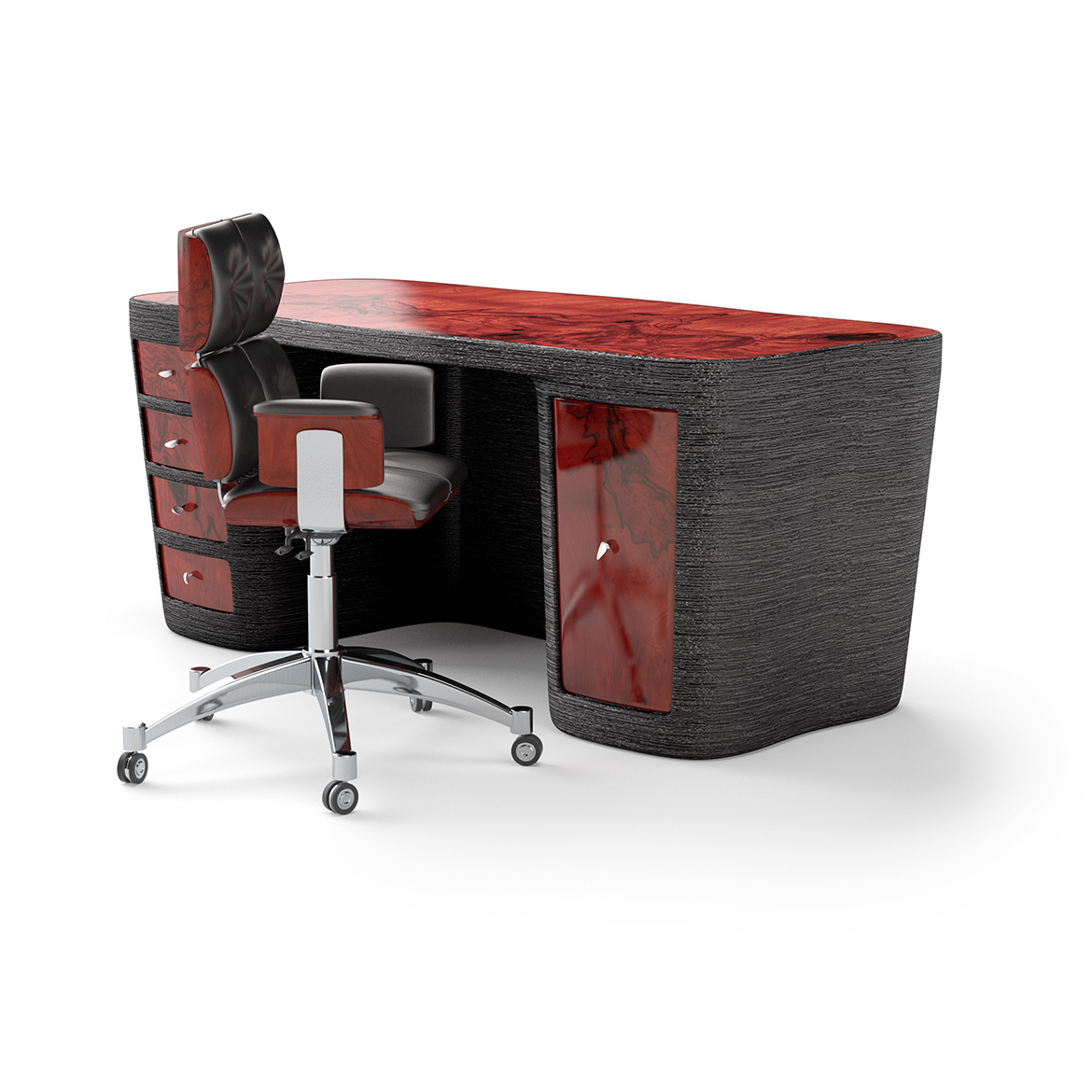 Redwood desk back armchair small