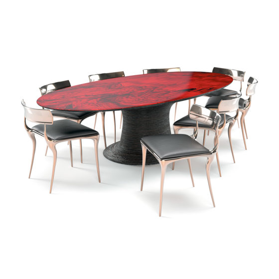 Redwood dining table set small