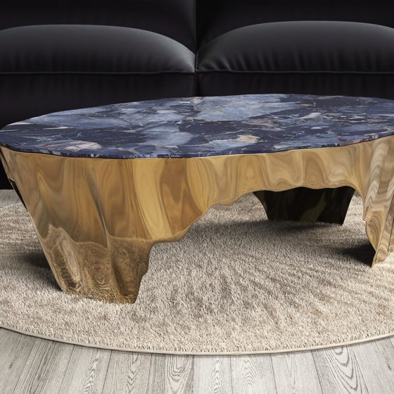 Broken Stone coffee table in real