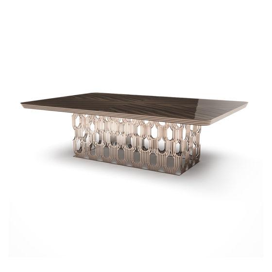 Art Deco Table Straight Husk Macassar Amara top small