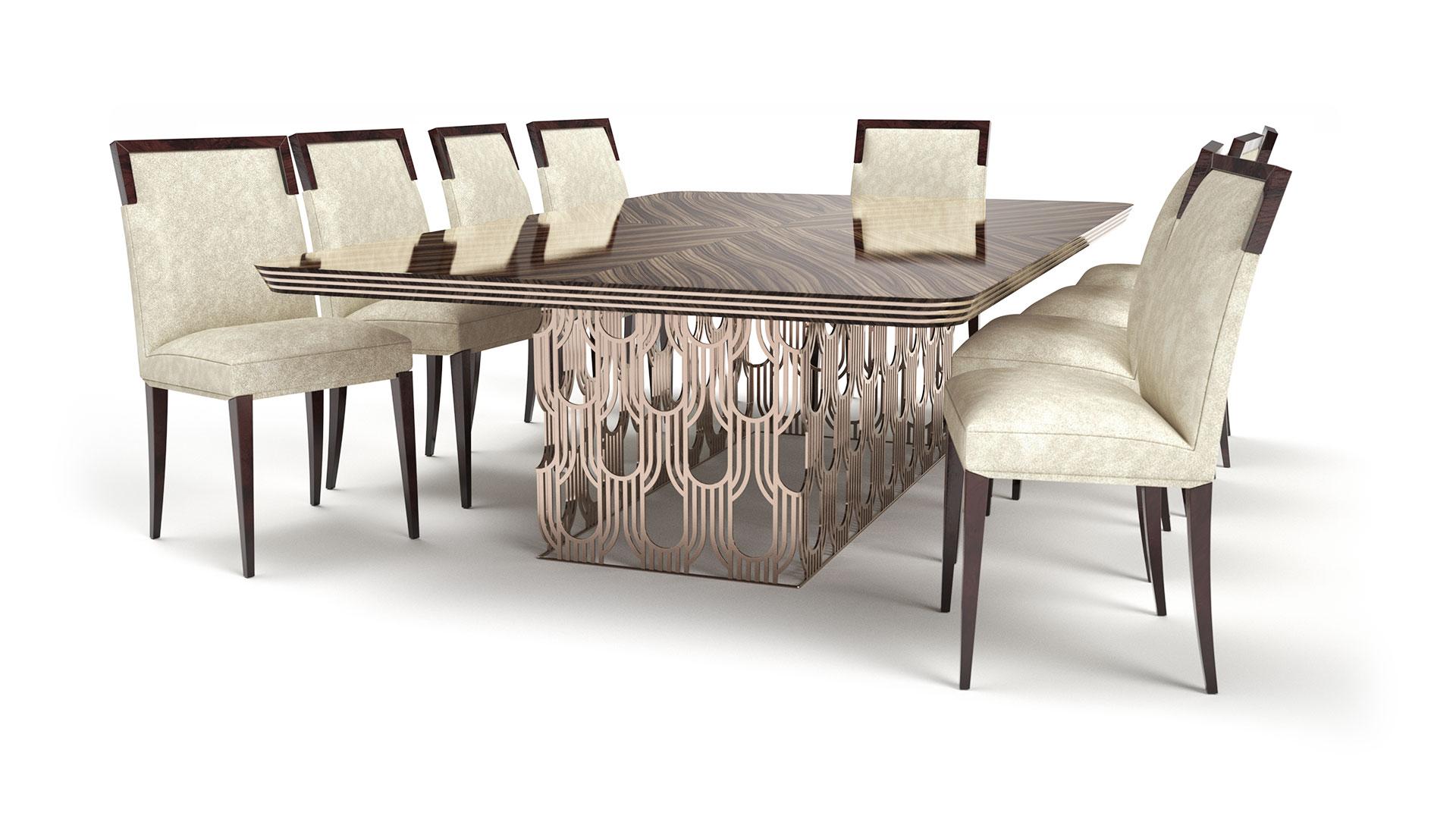Stol Art Deco Straight Husk krzesla