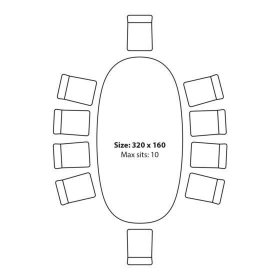 Stol Black Baoba siedziska 320